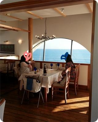 リストランテ・アマルフィイ 海を臨む2階席