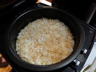 パルシステムの有機玄米入りご飯の炊きたて